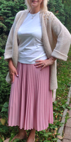 Кардиган женский с вышивкой. Цвет светло бежевый.244