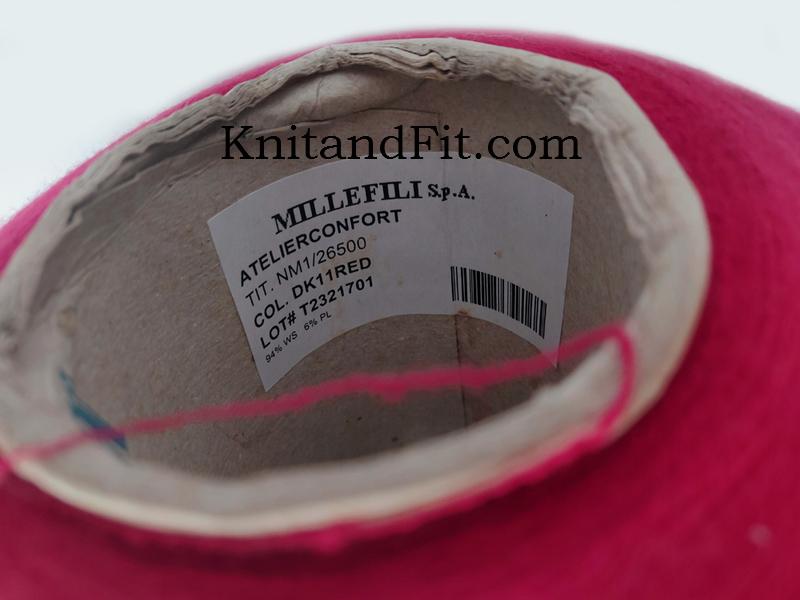 Пряжа кашемир.Millefili sp.a. Цвет красный.211/2650