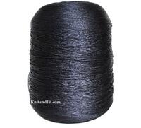 Пряжа шёлк Hasegawa. Цвет черно-синий.108/640