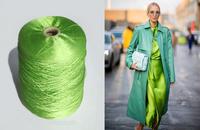 Пряжа шёлк. Цвет зеленый неоновый 82/2700
