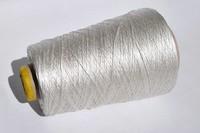 Пряжа шёлк Hasegawa. Цвет серебро. 166/640